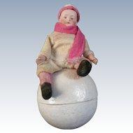 "Gebruder Heubach ""Snow Boy Candy Container"""