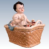 "Porcelain Trinket Box ""Boy with the Broken  Polichinelle"""
