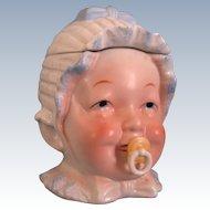 Vintage Porcelain Baby Head Trinket Box/Humidor