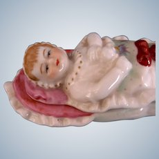 """""""Baby in a Bunting"""" Porcelain Fairing Box"""