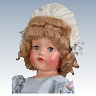 "Vintage Effanbee 21""  Ann Shirley ""Little Lady in Party Frock"""