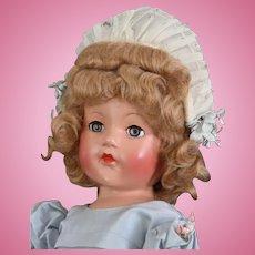"""Vintage Effanbee 21""""  Ann Shirley """"Little Lady in Party Frock"""""""