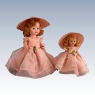 "Nancy Ann Storybook ""Debbie and Muffie"" Matching Bridesmaids"