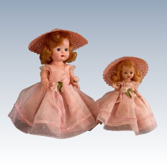 "Nancy Ann Storybook ""Debbie and Muffie"" Matching Bridesmaids"