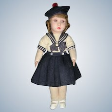 """RARE Cloth """"Clelia"""" Doll from France"""