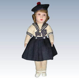 "RARE Cloth ""Clelia"" Doll from France"