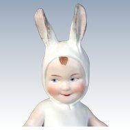"""Large Gebruder Heubach """" Bunny Boy with an Egg"""""""