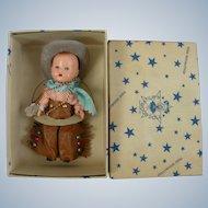 """1950's Hollywood  Doll Mfg. Company """"Cowboy"""" MIB"""