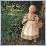 """Theriault's Doll Auction Catalog """" Slow Stroling Through Summer Gardens"""""""