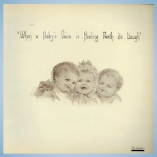 "Theriaults Doll Auction Catalog "" When A Babys Voice s Peeling Forth its Laugh"""