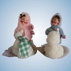 """Vintage Annalee Dolls of New Hampshire """"Snow Children"""" ,Hard to Find"""