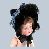 Antique Velvet Doll Bonnet