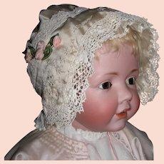 Vintage Silk and Lace Bonnet