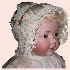 Vintage Silk and Lace Bonnet
