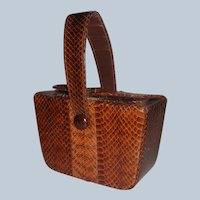 "1940""s Genuine Snakeskin Evening Bag"