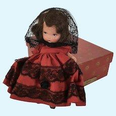 "Nancy Ann  Storybook  Doll Judy Ann "" Spanish"" in original box"