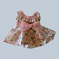 Vintage 1930s cotton print doll dress