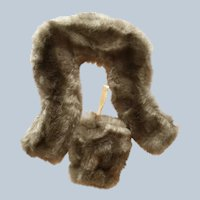 Faux Fur Stole and Muff for fashion dolls like MA Cissy and Miss Revlon