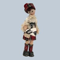 """Old cottage Doll """"Scots Page Boy"""""""