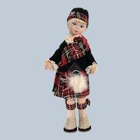 "Old Cottage Doll # 301"" Scots Boy"