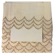 Vintage Embroidered Cotton Edging with 3 rows of tan stitching