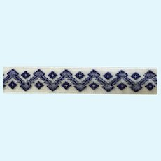 """Vintage  French 3/8"""" Woven Trim"""