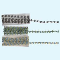 3 Vintage Parcels  of Woven Ribbon Trim