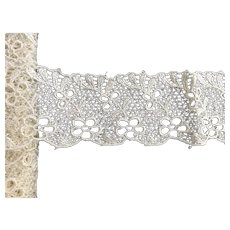 "Vintage 2"" Wide Heavier Embroidered  Lacy Trim"