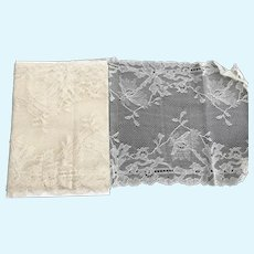 """Vintage 7"""" Wide Silk Netting Lace"""
