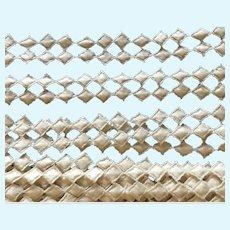 """Vintage 5/8"""" Cotton Linen Diamond Trim"""