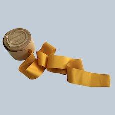 "Vintage 1 3/4"" Silk Satin  Golden Ribbon"