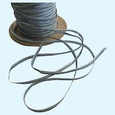 "Vintage 1/8"" Wide Ruching Rayon Ribbon Trim"
