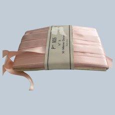 "Vintage 5\8"" French Rayonne Pink Satin Ribbon"