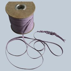 "Vintage 1/4"" Wide Lavender Braided Ruching Ribbon Trim"