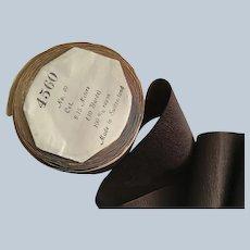 "Vintage 3"" Wide Chocolate Swiss Rayon Ribbon"