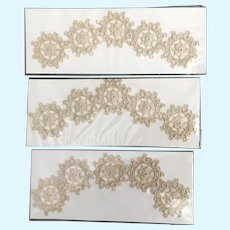 Vintage 3 Packages  Embroidered Medallions