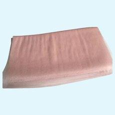 "Vintage 34"" Wide Pink Silk Tulle Yardage"