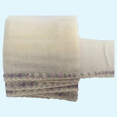 """Vintage 2"""" Wide Tiny Embroidered Trim"""