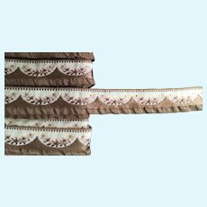 """Contemporary  5/8"""" Wide French  Jacquard  Ribbon"""