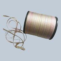 "Vintage  1/8"" Wide Rayon Tiny Ruching Ribbon"