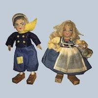 "Alma LeBlanc "" Tiny Town Dolls"" Dutch Boy and Girl"