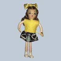 "Alma LeBlancs ""Tiny Town Doll "" SCHOOL GIRL"