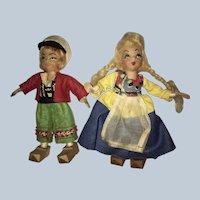 "Alma LeBlancs ""Tiny Town Dolls "" DUTCH Boy and Girl"
