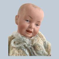 """Antique RARE Fritz Bierschenk Bisque 9"""" Baby Doll"""