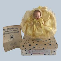 Vintage Hollywood Mfg Doll Co. Painted Eye Baby