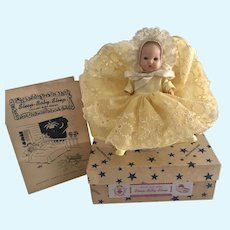 Vintage Hollywood Mfg Doll Co Baby in Box