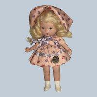 """Vintage Nancy Ann Storybook Doll """" Mistress Mary"""" JL, MS"""