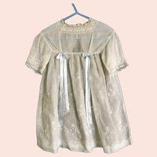Vintage Embroidered Cotton Girls Dress