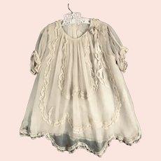 Vintage SILK Chiffon 1920's Girls Dress
