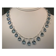Sterling Silver Green Fluorite Necklace